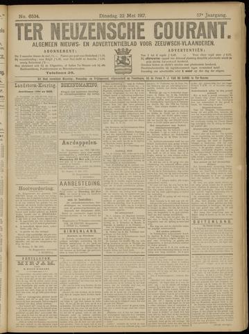 Ter Neuzensche Courant. Algemeen Nieuws- en Advertentieblad voor Zeeuwsch-Vlaanderen / Neuzensche Courant ... (idem) / (Algemeen) nieuws en advertentieblad voor Zeeuwsch-Vlaanderen 1917-05-22