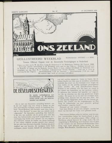 Ons Zeeland / Zeeuwsche editie 1926-12-18