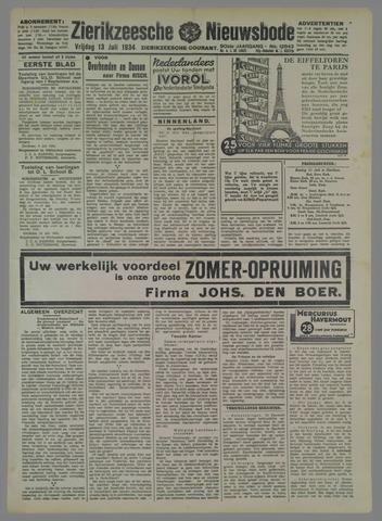 Zierikzeesche Nieuwsbode 1934-07-13