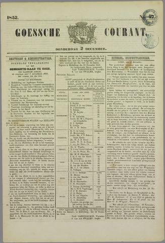 Goessche Courant 1852-12-02