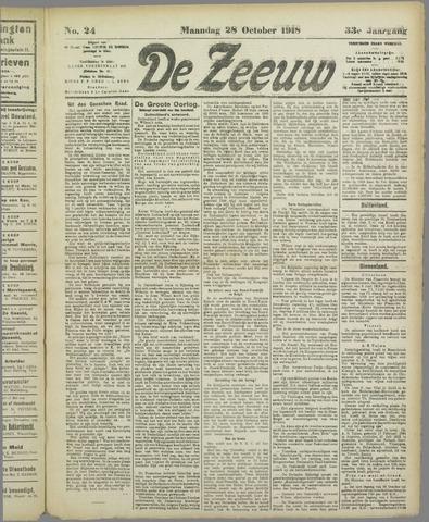 De Zeeuw. Christelijk-historisch nieuwsblad voor Zeeland 1918-10-28