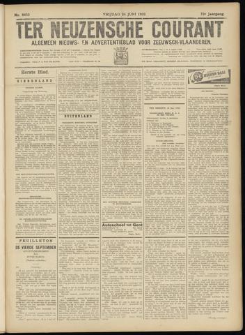 Ter Neuzensche Courant. Algemeen Nieuws- en Advertentieblad voor Zeeuwsch-Vlaanderen / Neuzensche Courant ... (idem) / (Algemeen) nieuws en advertentieblad voor Zeeuwsch-Vlaanderen 1932-06-24