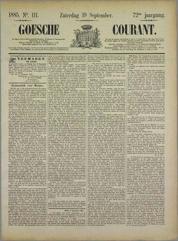 Goessche Courant 1885-09-19