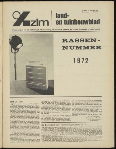Zeeuwsch landbouwblad ... ZLM land- en tuinbouwblad 1972-01-21
