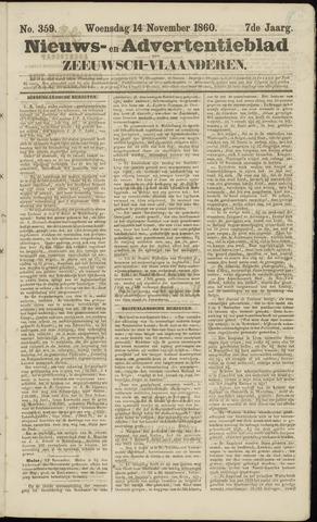 Ter Neuzensche Courant. Algemeen Nieuws- en Advertentieblad voor Zeeuwsch-Vlaanderen / Neuzensche Courant ... (idem) / (Algemeen) nieuws en advertentieblad voor Zeeuwsch-Vlaanderen 1860-11-14