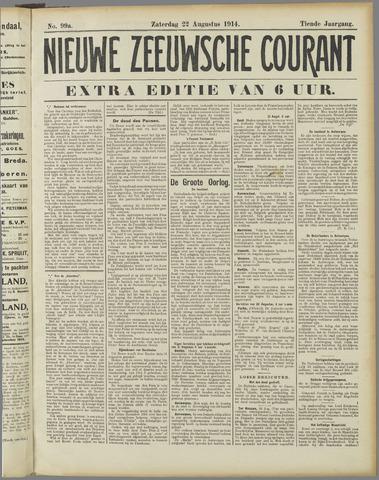 Nieuwe Zeeuwsche Courant 1914-08-22