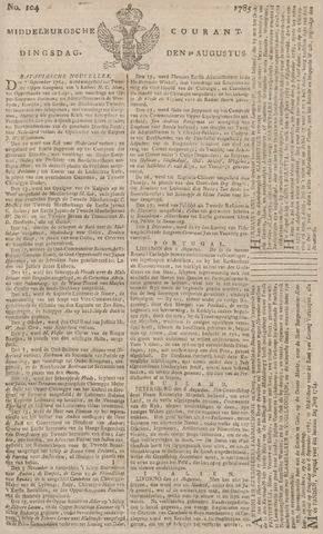 Middelburgsche Courant 1785-08-30