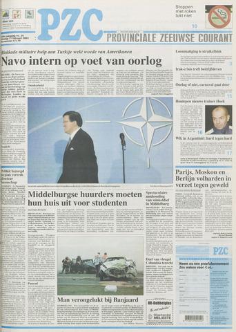 Provinciale Zeeuwse Courant 2003-02-11