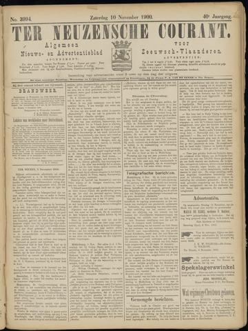 Ter Neuzensche Courant. Algemeen Nieuws- en Advertentieblad voor Zeeuwsch-Vlaanderen / Neuzensche Courant ... (idem) / (Algemeen) nieuws en advertentieblad voor Zeeuwsch-Vlaanderen 1900-11-10