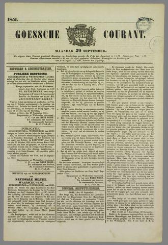 Goessche Courant 1851-09-29
