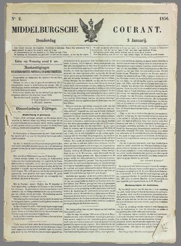 Middelburgsche Courant 1856