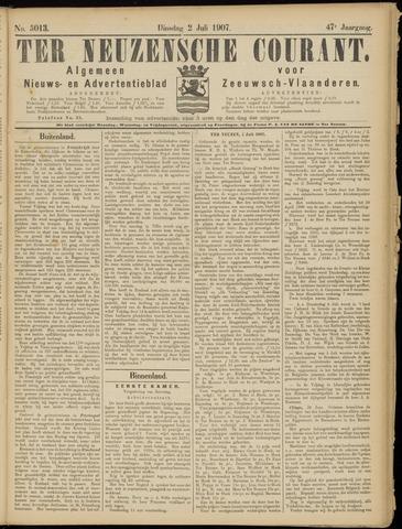 Ter Neuzensche Courant. Algemeen Nieuws- en Advertentieblad voor Zeeuwsch-Vlaanderen / Neuzensche Courant ... (idem) / (Algemeen) nieuws en advertentieblad voor Zeeuwsch-Vlaanderen 1907-07-02