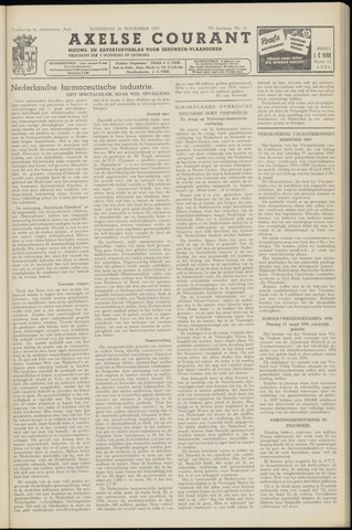 Axelsche Courant 1957-11-20