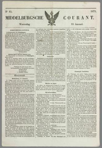 Middelburgsche Courant 1871-01-18