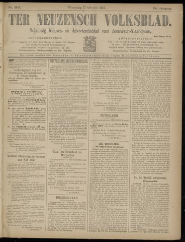 Ter Neuzensch Volksblad. Vrijzinnig nieuws- en advertentieblad voor Zeeuwsch- Vlaanderen / Zeeuwsch Nieuwsblad. Nieuws- en advertentieblad voor Zeeland 1917-10-17