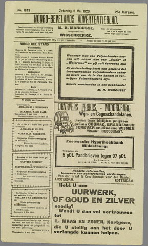 Noord-Bevelands Nieuws- en advertentieblad 1920