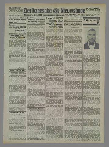 Zierikzeesche Nieuwsbode 1934-09-17