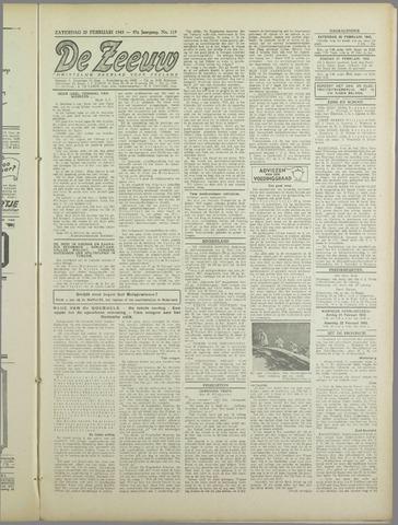 De Zeeuw. Christelijk-historisch nieuwsblad voor Zeeland 1943-02-20