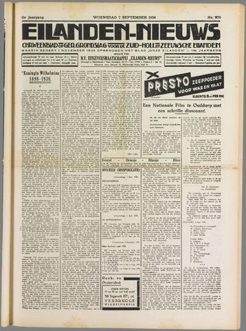Eilanden-nieuws. Christelijk streekblad op gereformeerde grondslag 1938-09-07