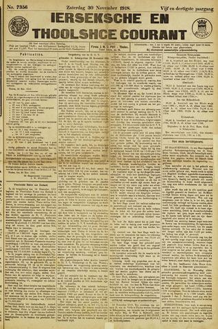 Ierseksche en Thoolsche Courant 1918-11-30