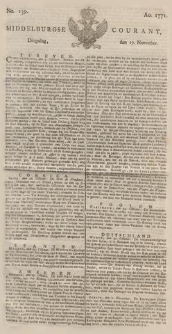 Middelburgsche Courant 1771-11-19