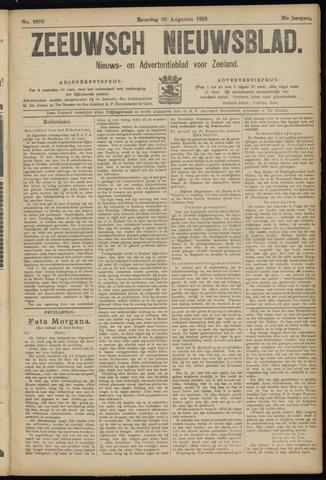Ter Neuzensch Volksblad. Vrijzinnig nieuws- en advertentieblad voor Zeeuwsch- Vlaanderen / Zeeuwsch Nieuwsblad. Nieuws- en advertentieblad voor Zeeland 1919-08-30