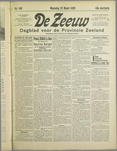 De Zeeuw. Christelijk-historisch nieuwsblad voor Zeeland 1929-03-25