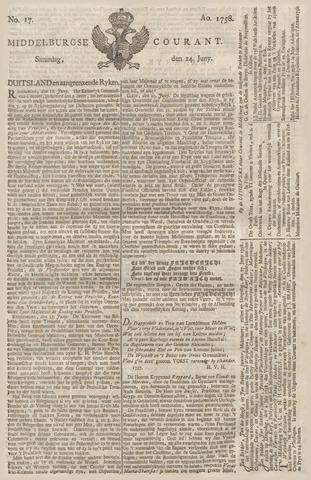 Middelburgsche Courant 1758-06-24