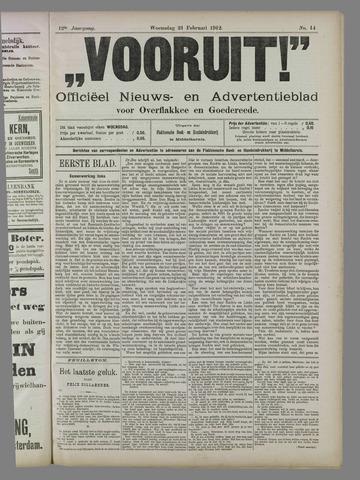 """""""Vooruit!""""Officieel Nieuws- en Advertentieblad voor Overflakkee en Goedereede 1912-02-21"""