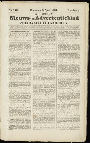 Ter Neuzensche Courant. Algemeen Nieuws- en Advertentieblad voor Zeeuwsch-Vlaanderen / Neuzensche Courant ... (idem) / (Algemeen) nieuws en advertentieblad voor Zeeuwsch-Vlaanderen 1863-04-08