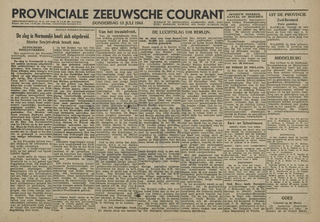 Provinciale Zeeuwse Courant 1944-07-13