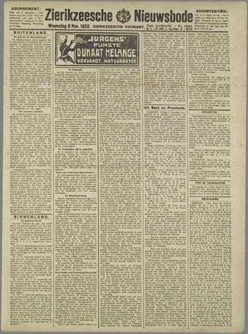 Zierikzeesche Nieuwsbode 1922-11-08