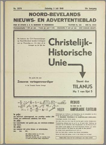 Noord-Bevelands Nieuws- en advertentieblad 1948-07-03