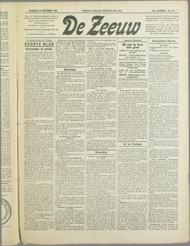De Zeeuw. Christelijk-historisch nieuwsblad voor Zeeland 1934-09-29