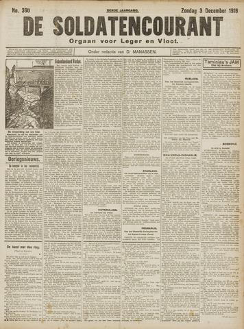 De Soldatencourant. Orgaan voor Leger en Vloot 1916-12-03
