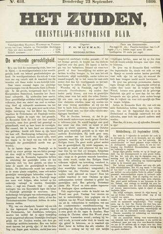 Het Zuiden, Christelijk-historisch blad 1880-09-23