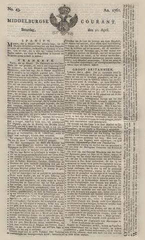 Middelburgsche Courant 1762-04-10