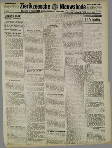 Zierikzeesche Nieuwsbode 1921-03-07