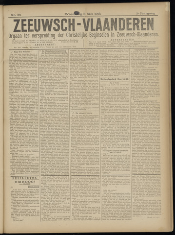 Luctor et Emergo. Antirevolutionair nieuws- en advertentieblad voor Zeeland / Zeeuwsch-Vlaanderen. Orgaan ter verspreiding van de christelijke beginselen in Zeeuwsch-Vlaanderen 1918-05-08