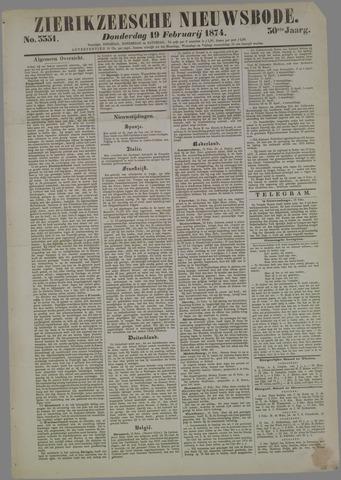 Zierikzeesche Nieuwsbode 1874-02-19