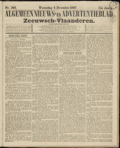 Ter Neuzensche Courant. Algemeen Nieuws- en Advertentieblad voor Zeeuwsch-Vlaanderen / Neuzensche Courant ... (idem) / (Algemeen) nieuws en advertentieblad voor Zeeuwsch-Vlaanderen 1867-12-04