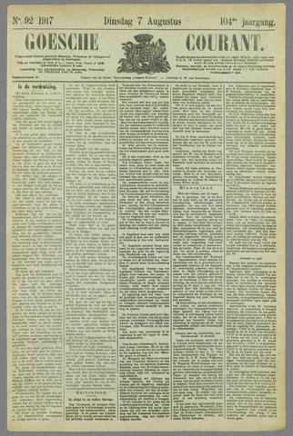 Goessche Courant 1917-08-07
