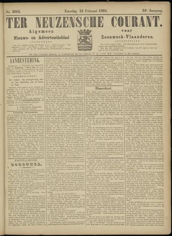 Ter Neuzensche Courant. Algemeen Nieuws- en Advertentieblad voor Zeeuwsch-Vlaanderen / Neuzensche Courant ... (idem) / (Algemeen) nieuws en advertentieblad voor Zeeuwsch-Vlaanderen 1894-02-24