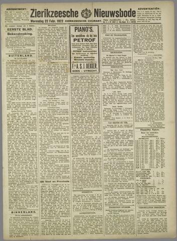 Zierikzeesche Nieuwsbode 1922-02-22