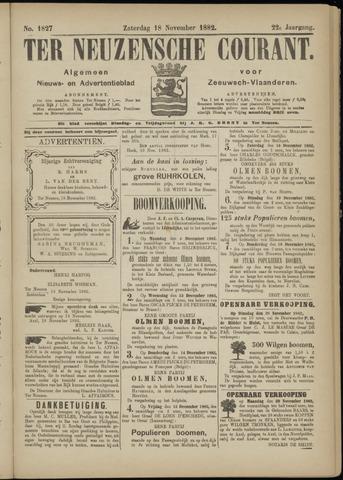 Ter Neuzensche Courant. Algemeen Nieuws- en Advertentieblad voor Zeeuwsch-Vlaanderen / Neuzensche Courant ... (idem) / (Algemeen) nieuws en advertentieblad voor Zeeuwsch-Vlaanderen 1882-11-18