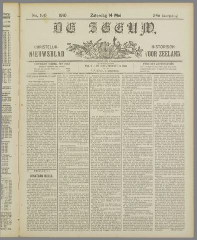 De Zeeuw. Christelijk-historisch nieuwsblad voor Zeeland 1910-05-14