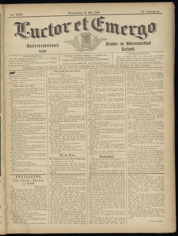 Luctor et Emergo. Antirevolutionair nieuws- en advertentieblad voor Zeeland / Zeeuwsch-Vlaanderen. Orgaan ter verspreiding van de christelijke beginselen in Zeeuwsch-Vlaanderen 1916-05-31