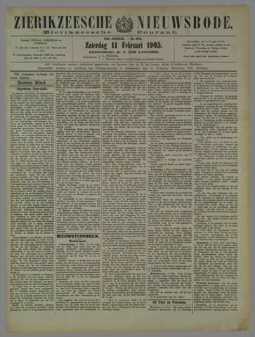 Zierikzeesche Nieuwsbode 1905-02-11