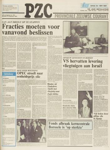 Provinciale Zeeuwse Courant 1981-08-18