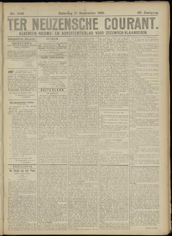 Ter Neuzensche Courant. Algemeen Nieuws- en Advertentieblad voor Zeeuwsch-Vlaanderen / Neuzensche Courant ... (idem) / (Algemeen) nieuws en advertentieblad voor Zeeuwsch-Vlaanderen 1920-09-25